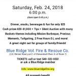 CASH PARTY @ BLUE RIDGE~Saturday, FEB. 24, 2018