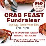 CRAB FEAST ~ September 16th, 1pm – 4pm