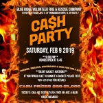 CASH PARTY @ BLUE RIDGE~Saturday, 9 FEB. 2019